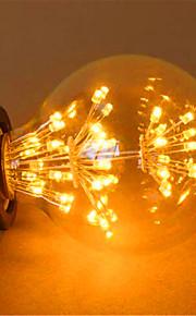 2 E26/E27 LED-globepærer G125 49 DIP-LED 800 lm Gul Dekorativ AC 220-240 V 1 stk.