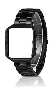 robusto involucro in metallo con fascia cinturino di ricambio in acciaio inox per Blaze Fitbit
