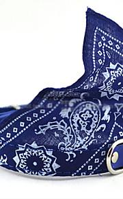Hundar Halsband Justerbara/Infällbar / Snusnäsdukar Tecknat Röd / Svart / Blå Fabric