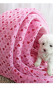 Cat / Dog Bed Pet Mats & Pads Soft Pink / Rose Fabric