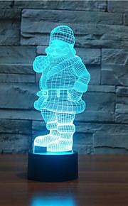 julenissen berøre dimming 3D LED nattlys 7colorful dekorasjon atmosfære lampe nyhet belysning jul lys