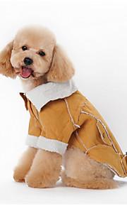 Psy Bluzy z kapturem Zielony / Niebieski / Brązowy / Odsłonięte Ubrania dla psów Zima Britsh Modny / Codzienne /