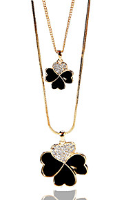 Necklace Rhinestone Jewelry Wedding / Party / Casual Unique Design Alloy Black 1pc Gift