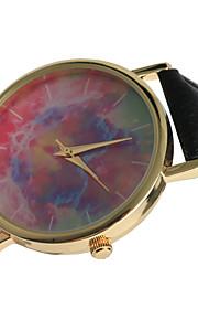 Mulheres Relógio de Moda Quartz / PU Banda Casual Preta marca