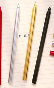 metal farve plating gel pen sæt (10 stk)