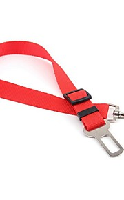 Dog Leash / Car Seat Harness/Safety Harness Waterproof / Safety / Soft / For Car / Casual Solid Red / Black / Blue / Purple Nylon