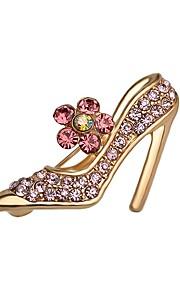 hot salg lysende krystal højhælede sko broche for kvinder