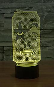 flaske berørings dimming 3D LED nattlys 7colorful dekorasjon atmosfære lampe nyhet belysning jul lys