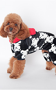 Psy Bluzy z kapturem Black / Różowy / Odsłonięte Ubrania dla psów Zima / Wiosna/jesień Kwiaty Urocze / Codzienne /