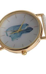 Mulheres Relógio de Moda Quartz / PU Banda Casual Branco marca