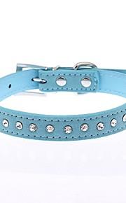 Cat / Dog Collar Reflective / Adjustable/Retractable / Cosplay / Running / Hands free / Casual Polka Dots / RhinestoneRed / Black / Blue