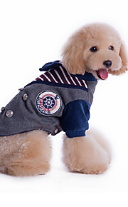 Cani Felpe con cappuccio Rosso / Grigio Abbigliamento per cani Inverno / Primavera/Autunno Britsh Di tendenza /