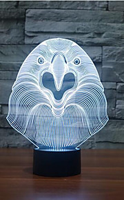 ugle kontakt dimming 3D LED nattlys 7colorful dekorasjon atmosfære lampe nyhet belysning jul lys