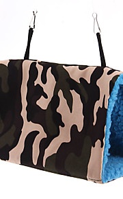 Bird Hammock Hanging Bunk Bed Hut Cave Cage Tunnel Shed Camouflage Blue Toy S