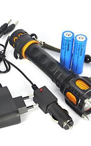 Valaistus LED taskulamput / Käsivalaisimet LED 2500 Lumenia 1 Tila Cree XM-L T6 18650 ErityiskevyetTelttailu/Retkely/Luolailu / Metsästys