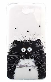 のために 超薄型 / パターン ケース バックカバー ケース 猫 ソフト TPU Huawei Other