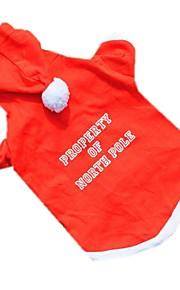 Koty / Psy Kostiumy / Płaszcze / Bluzy z kapturem / Bluzy / Stroje / Yelek Red Ubrania dla psów Zima / Lato / Wiosna/jesieńJendolity