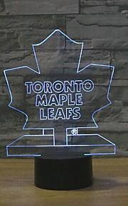 Maple Leafs berøre dimming 3D LED nattlys 7colorful dekorasjon atmosfære lampe nyhet belysning jul lys