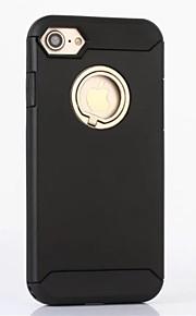 For Etui iPhone 7 / Etui iPhone 7 Plus / Etui iPhone 6 med stativ Etui Bakdeksel Etui Ensfarget Hard Silikon AppleiPhone 7 Plus / iPhone