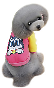 Dog Sweatshirt Orange / Yellow / Blue / Pink / Gray Dog Clothes Winter / Spring/Fall Cartoon Cute / Fashion Lovoyager