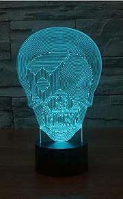 terrorist maske kontakt dimming 3D LED nattlys 7colorful dekorasjon atmosfære lampe nyhet belysning jul lys