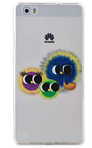 Para Transparente / Diseños Funda Cubierta Trasera Funda Dibujos Suave TPU Huawei Huawei P9 Lite / Huawei P8 Lite