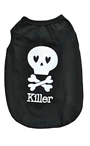 Chat / Chien T-shirt / Gilet Noir Vêtements pour Chien Hiver / Eté / Printemps/Automne Lettre et chiffreMignon / Anniversaire / Vacances