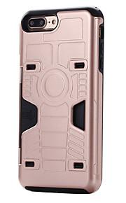 Für iPhone 7 Hülle / iPhone 7 Plus Hülle Kreditkartenfächer Hülle Rückseitenabdeckung Hülle Panzer Hart PC Apple iPhone 7 plus / iPhone 7