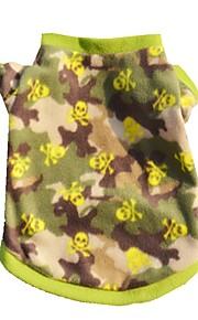 Gatos / Cães Casacos / Camiseta / Colete Côr Camuflagem Roupas para Cães Inverno / Verão / Primavera/Outono camuflagemFofo / Aniversário