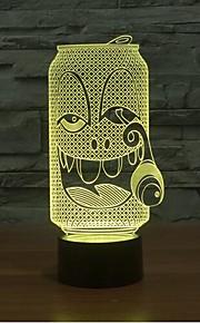 røyking flaske berørings dimming 3D LED nattlys 7colorful dekorasjon atmosfære lampe nyhet belysning jul lys