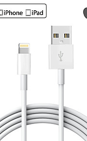 Lightning USB 2.0 Data och synkronisering Sladd Laddningskabel Laddningssladd Normal Kabel Till Apple iPhone iPad 200 cm TPE