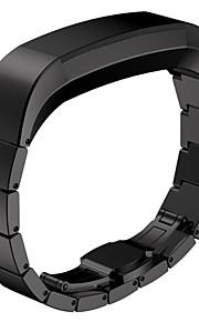 Preta / Rose / Dourada / Prateada Aço Inoxidável Pulseira Esportiva Para Fitbit Assistir 10mm