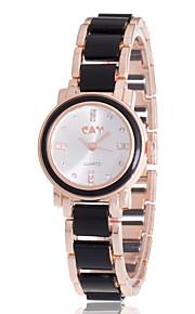 Mulheres Relógio de Moda / Bracele Relógio Quartz / Lega Banda Boêmio / Pendente / Legal / Casual Preta / Branco marca