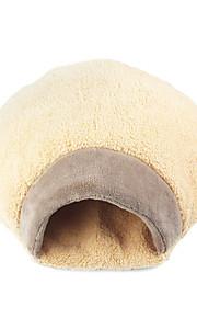 ネコ ベッド ペット用 クッション/枕 携帯用 / 高通気性 / ソフト ブラウン フリース