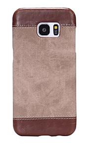 ל אולטרה דק מגן כיסוי אחורי מגן צבע אחיד קשיח דמוי עור Samsung S7 edge / S7 / S6 edge plus / S6 edge / S6