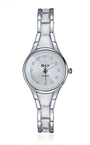 Mulheres Relógio de Moda / Bracele Relógio Quartz Impermeável Lega Banda Pendente / Casual Preta / Prata marca