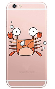 Cartoon Crab Pattern TPU Ultra-thin Translucent Soft Back Cover for Apple iPhone 6s Plus/6 Plus/ 6s/6/ SE/5s/5