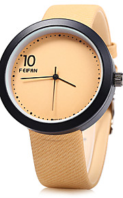 Unissex Relógio de Moda Quartz / Digital Colorido Couro Banda Casual Preta / Marrom marca