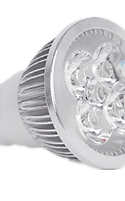 4W GU10 LEDスポットライト MR16 4LED ハイパワーLED 400LM lm 温白色 / クールホワイト 明るさ調整 / 装飾用 V 1個
