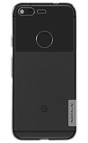 Para Antipolvo / Transparente Funda Cubierta Trasera Funda Un Color Suave TPU para Google Google Pixel / Google Pixel XL