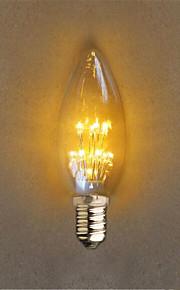 1W E14 Dekorations Lys C35 20 DIP-LED 40 lm Gul Dekorativ AC 220-240 V 1 stk.