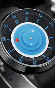 Masculino Relógio de Moda Relógio de Pulso Único Criativo relógio Quartzo Colorido Silicone Banda Vintage Legal Casual Preta marca