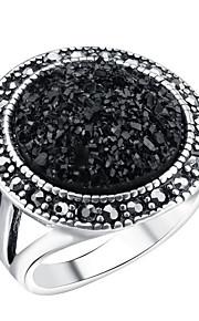 Ringe Kvadratisk Zirconium Afslappet Smykker Legering Dame Ring 1pc,7 / 8 / 9 / 10 Sølv