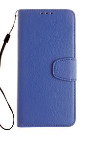 용 카드 홀더 / 지갑 케이스 풀 바디 케이스 단색 하드 인조 가죽 용 Google Google Pixel / Google Pixel XL