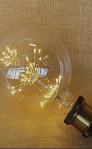 2W E26/E27 LED-globepærer 49 DIP-LED 220 lm Gul Dekorativ AC 220-240 V 1 stk.