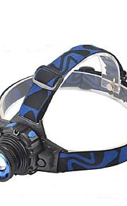 Pannlampor / cykel glödljus LED 280-350 Lumen Läge Cree XM-L T6 Lithiumbatteri Vattentät / SuperlättCamping/Vandring/Grottkrypning /