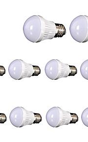 5W E26/E27 LED-globepærer SMD 2835 400 lm Varm hvit Dekorativ AC110 V 10 stk.