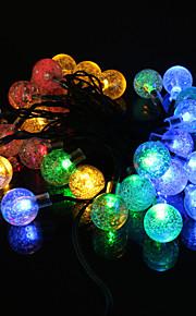 2m varm / blå / gul / kald hvit 20-ledede string lys (12v)