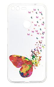 Para Diseños Funda Cubierta Trasera Funda Mariposa Suave TPU para Google Google Pixel / Google Pixel XL