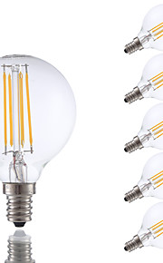 3.5 E12 LED-glødepærer G16.5 4 COB 350 lm Varm hvit Dimbar V 6 stk.